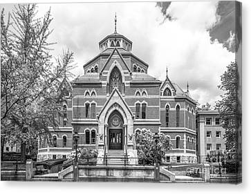 Brown University Robinson Hall Canvas Print by University Icons