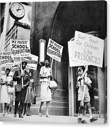 Brown Vs Board Of Education Canvas Print by American School
