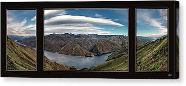 Canvas Print featuring the photograph Brownlee Triptych by Leland D Howard