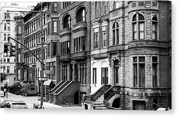 East Village Canvas Print - Brownstone by Darren Martin