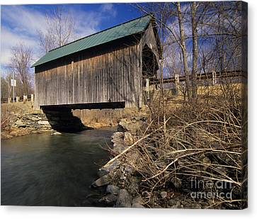 Brownsville Covered Bridge - Brownsville Vermont Canvas Print by Erin Paul Donovan