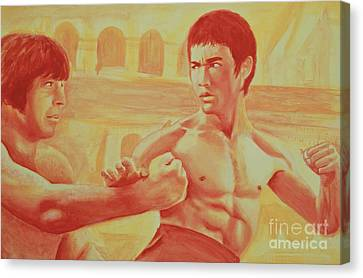 Bruce And Chuck Canvas Print by Derek Donnelly
