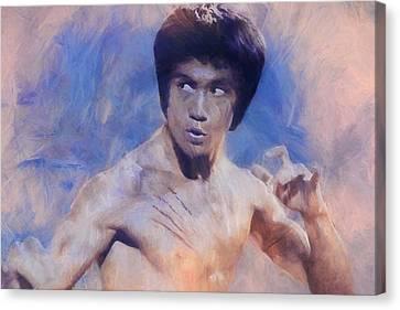 Hong Kong Canvas Print - Bruce Lee Art by Dan Sproul