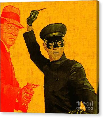 Bruce Lee Kato And The Green Hornet - Square Canvas Print by Wingsdomain Art and Photography