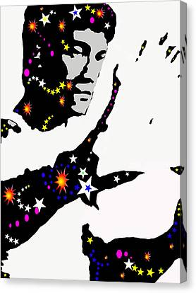 Canvas Print featuring the drawing Bruce Lee Moving His Hands by Robert Margetts