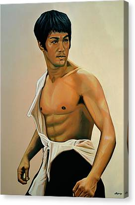 Bruce Lee Painting Canvas Print by Paul Meijering