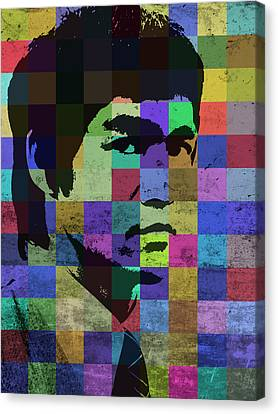 Bruce Lee Pop Art Portrait Iconic Colors Canvas Print