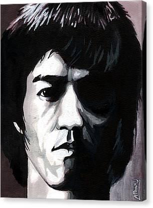 Bruce Lee Portrait Canvas Print