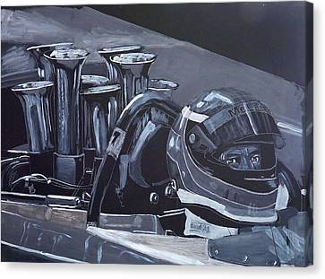 Canvas Print featuring the painting Bruce Mclaren Canam by Richard Le Page