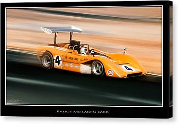 Innovator Canvas Print - Bruce Mclaren M8b by Peter Chilelli