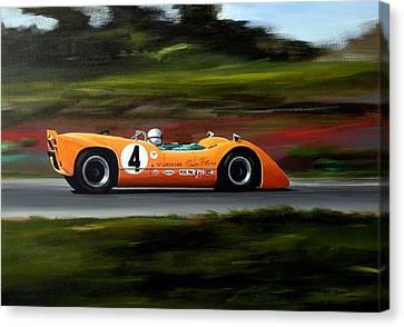Bruce Mclaren Canvas Print by Steve Jones
