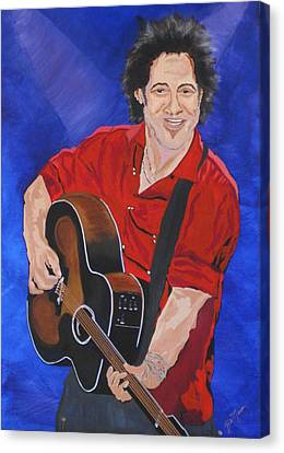 Bruce Springsteen-an American Boy Canvas Print by Bill Manson