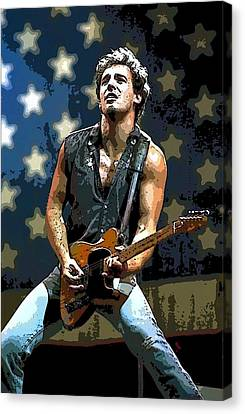 Bruce Springsteen Born To Run Canvas Print by Lulu Escudero