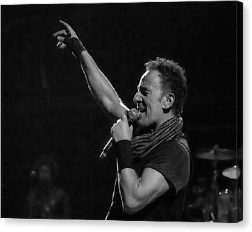 Canvas Print featuring the photograph Bruce Springsteen In Cleveland by Jeff Ross