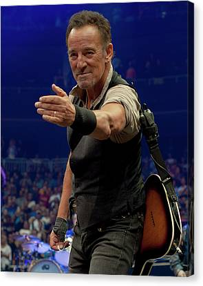 Bruce Springsteen. Pittsburgh, Sept 11, 2016 Canvas Print by Jeff Ross