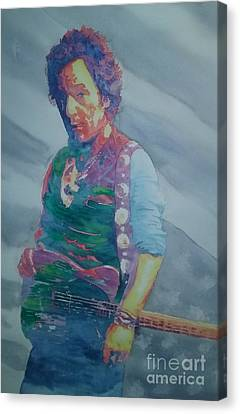 Bruce Springsteen Canvas Print by Robert Nipper