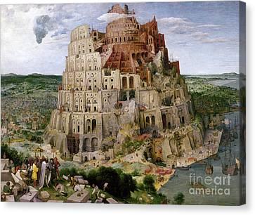 Bruegel - Tower Of Babel Canvas Print