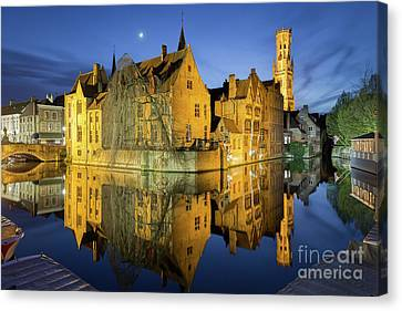 Brugge Twilight Canvas Print by JR Photography