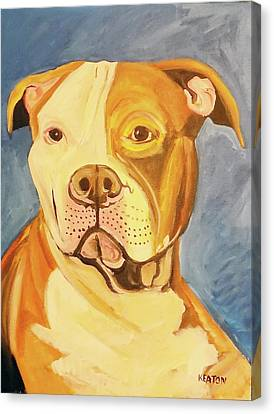 Canvas Print featuring the painting Bruiser by John Keaton