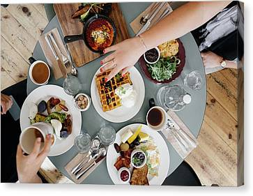 Weekend Canvas Print - Brunch by Happy Home Artistry
