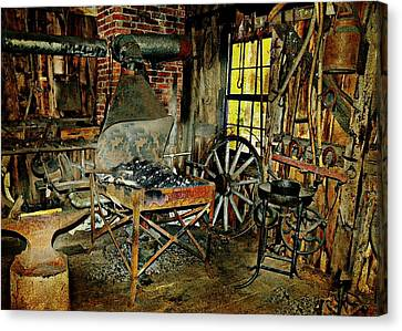 Brundage Blacksmith Canvas Print by Diana Angstadt