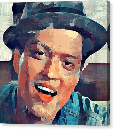 Bruno Mars Portrait Canvas Print