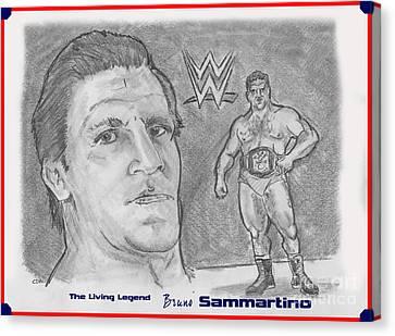 Bruno Sammartino The Living Legend Canvas Print by Chris  DelVecchio