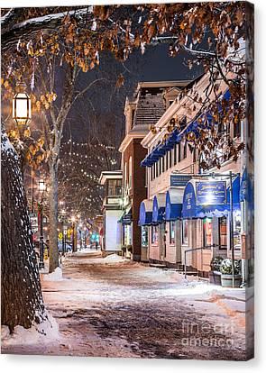 Brunswick Maine Street Scene Canvas Print by Benjamin Williamson