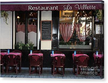 Brussels - Restaurant La Villette Canvas Print by Carol Groenen
