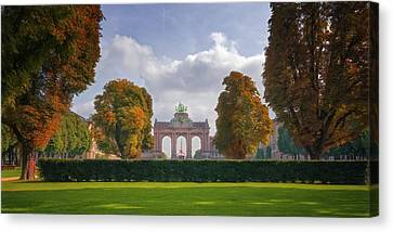 Bruxelles Canvas Print - Brussels Park by Joan Carroll