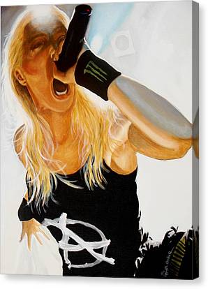 Brutal Metal Queen Canvas Print by Al  Molina
