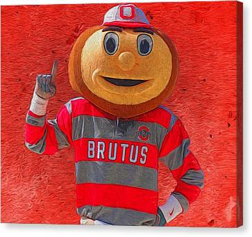 Brutus The Buckeye Canvas Print by Dan Sproul