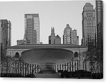 Bryant Park And Public Library Canvas Print - Bryant Park by Christian Heeb