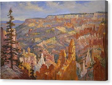 Bryce Canyon Canvas Print by Lewis A Ramsey