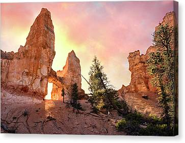 Bryce Canyon - Tower Bridge Canvas Print by Thomas Schoeller