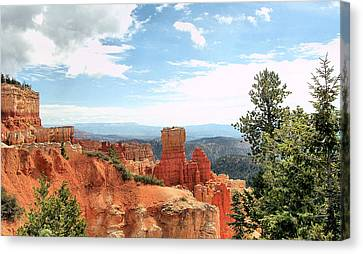 Bryce Canyon  Utah Western Vista Scene Picture Decor  Canvas Print by John Samsen