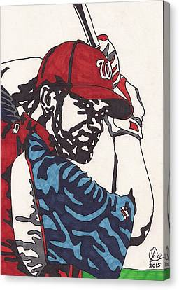 Bryce Harper 1 Canvas Print by Jeremiah Colley