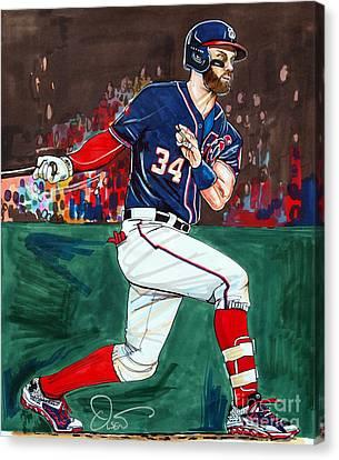 Bryce Harper Canvas Print by Dave Olsen
