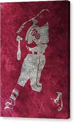 Bryce Harper Washington Nationals Art Canvas Print by Joe Hamilton