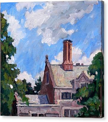 Bryn Mawr Rooftops Canvas Print