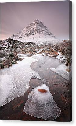 Buachaille Etive Mor Winter Canvas Print by Grant Glendinning