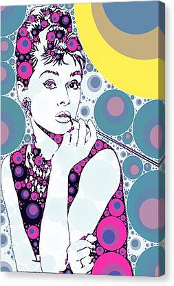 Bubble Art Audrey Hepburn Canvas Print