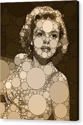 Bubble Art Judy Garland Canvas Print by John Springfield
