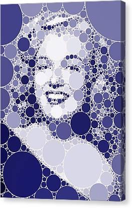Bubble Art Marilyn Monroe Canvas Print by John Springfield