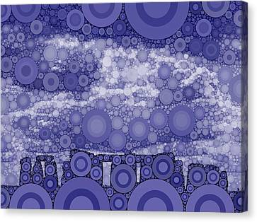 Bubble Art Stonehenge Canvas Print by John Springfield