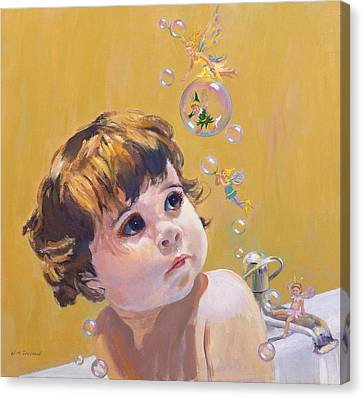 Bubble Bath Canvas Print by William Ireland