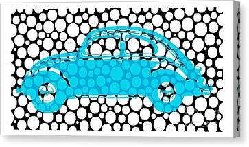 Bubble Car Vw Beetle Canvas Print by Edward Fielding