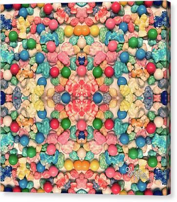 Canvas Print featuring the digital art Bubble Gum #9776 by Barbara Tristan