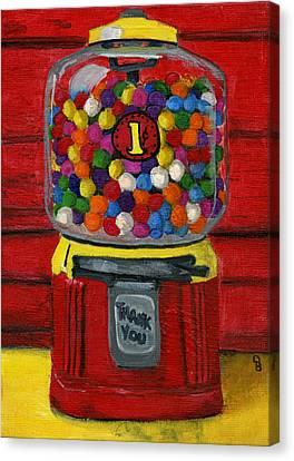 Bubble Gum Bank Canvas Print by Debbie Brown