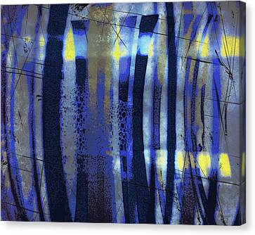 Bubble Lines Canvas Print by Susan  Epps Oliver
